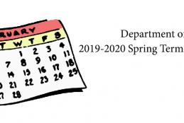 2020 Spring Term Course Schedule