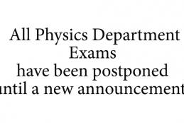 About Physics Department Exams